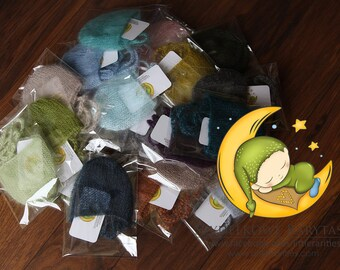 simple hats - available in 60colors - newborn photo prop - silk mohair