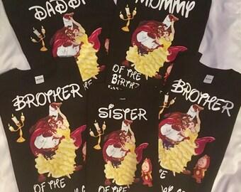 family birthday shirt set