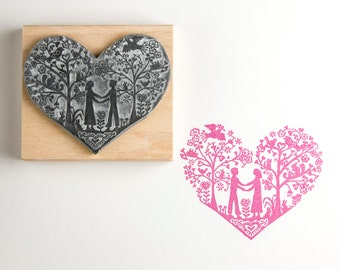 Wedding Rubber Stamp You & Me