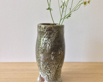 Handmade Ceramic Vase with Decorative Glaze