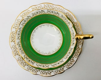 Royal Stafford pedestal teacup and saucer.