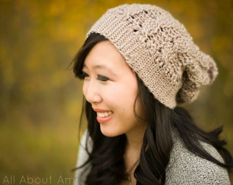 Cabled Slouchy Beanies Crochet Pattern