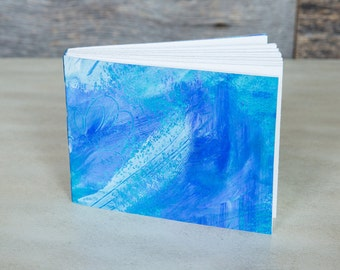 Handmade notebook in blue