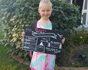 First Day of School Chalkboard|Back to School Chalkboard|School Chalkboard|Kid's Chalkboard|Memory Chalkboard|Chalkboard Sign|