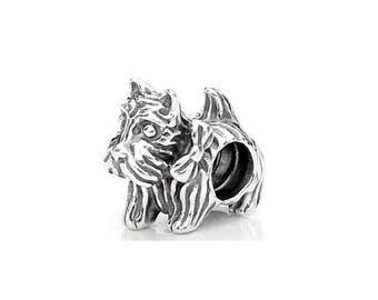 Adorable Silver Schnauzer Dog Charm - Schnauzer Charm - Puppy Charm - Dog Lover Gift  - Schnauzer Gift - Fits all Charm Bracelets