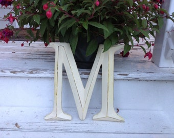 Wall Decor / Large Letter / Shabby Chic Wall Decor / PiCK YoUR CoLOr and PIcK YOuR LeTTeR