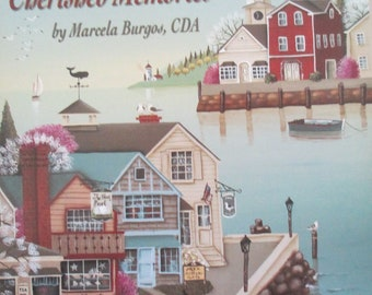 "Folk Art Decorative book "" Distant Shores Cherished Memories"" by Marcella Burgos CDA  52 pages 2002 used book"
