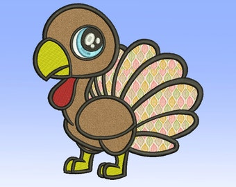 Turkey Applique  11 Size  Thanksgiving Applique Design Turkey Embroidery Design Machine Embroidery Designs PES
