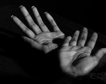 """Hands I 8"""" X 12"""" B&W photo print on Kodak Lustre Paper BWH9734"""