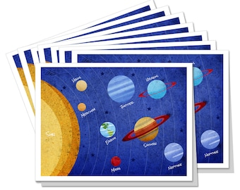 Solar System 8pc. Notecard Set