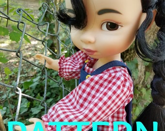 Puffy Sleeve Undershirt Shirt Set SEWING PATTERN for Disney Animator Dolls, Doll Clothes, 16 in Doll Clothes, Shirt Pattern, Outfit Pattern