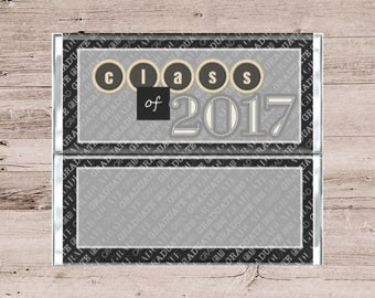 Class of 2017 Graduation Candy Bar Wrapper-Class of 2017 Chocolate Bar Wrapper-Graduation Chocolate Bar Wrapper-Customized Candy Wrapper