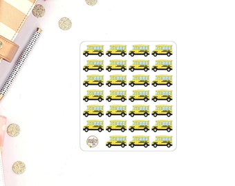 School Bus Planner Stickers