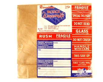 Vintage Dennison Package Wrapping Kit, Sealed in Original Packaging (c.1950s) - Collectible,  Scrapbook