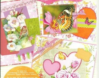 Book to make 14 3D flowers new theme cards