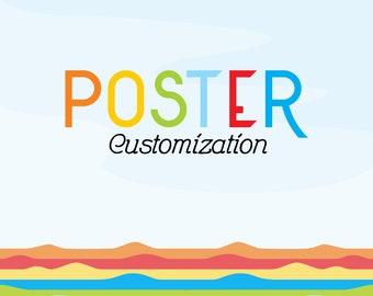Poster Customization for DreamMachine Prints