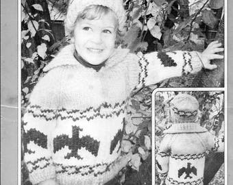 Cowichan Style Child's Eagle Sweater and Toque #500 PDF Pattern
