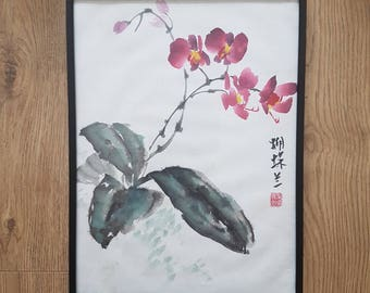 Original Chinese Brush Painting: Orchid