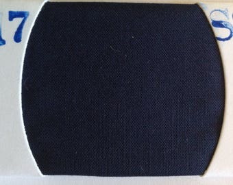 Plain cotton lawn fabric, navy no17
