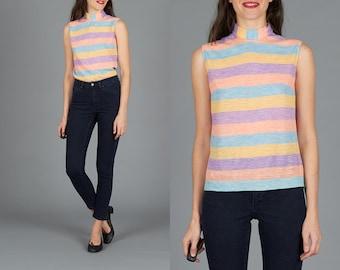 60s Pastel Striped Top