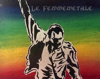 """Freddie Mercury """"Mr. Fahrenheit"""" original acrylic art on canvas board 11x14 painting"""