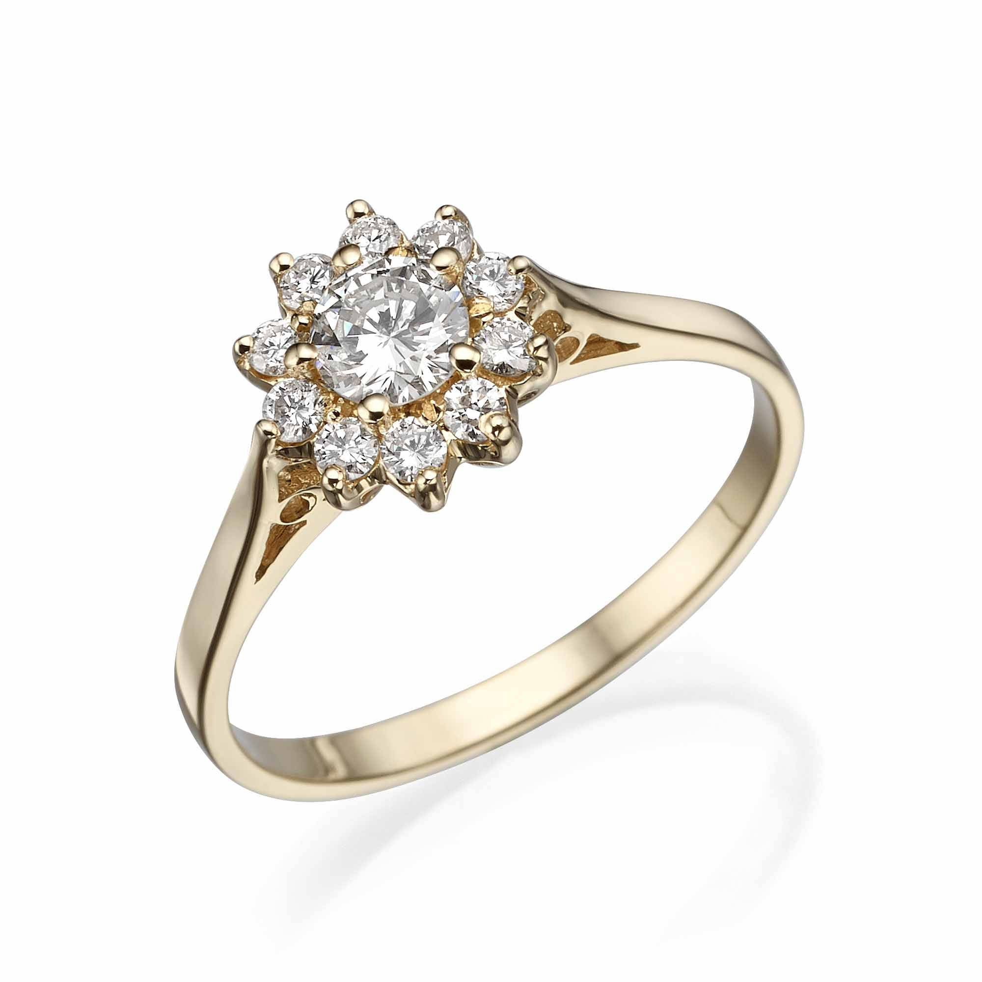 yellow wedding ring white gold engagement dublin jewellers products rings cluster campbell diamond