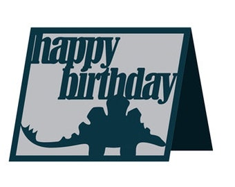 Dinosaur Happy Birthday Card  , kids , boys , girls , adults , teens , friends , family