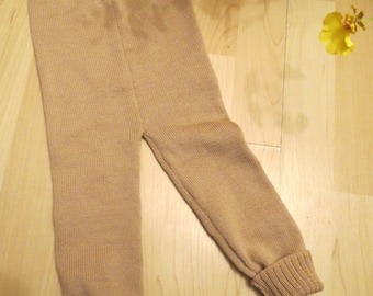 Knited baby merino wool pants/Leggings