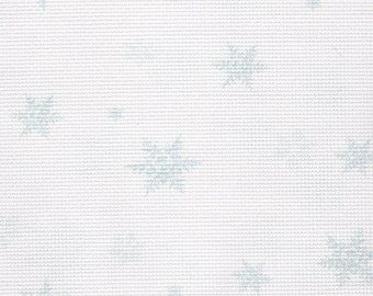 Fabric Flair 14 count Snowflakes Aida - piece approx 45 x 50cm. Great fabric for cross stitch