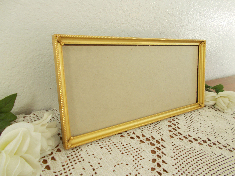 Metal Oro vintage cuadro marco 7 x 15 Horizontal foto decoración ...