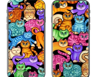 Colorful Kittens by Dan Morris - iPhone 7/7 Plus Skin - Sticker Decal