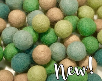 Collection - 60PC Piece SEAGLASS Felt Balls