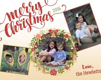 Custom Christmas Card - Wreath
