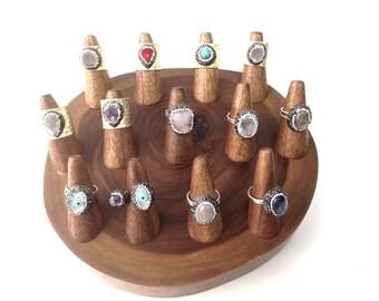 Wood Ring Display