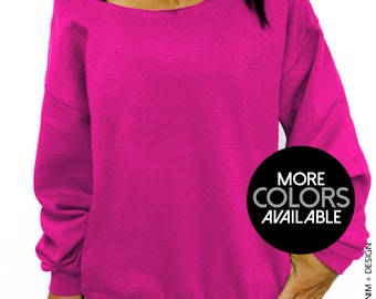 Blank Slouchy Oversized Sweatshirt - More Colors Available