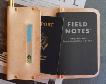 Travel Journal Personalized Field Notes Cover Notebook Cover Leather Passport Holder Passport Cover Travel Wallet Leather Wallet Women