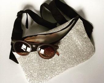 Handmade sparkly glitter bumbag festival fannypack bag