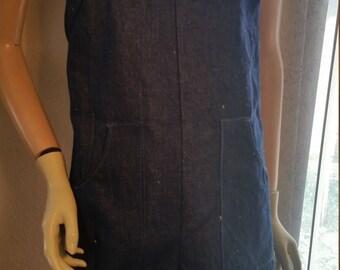 Hermans Hemp  Romper short overalls S to M  jeans hemp/cotton