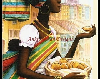 Counted Cross Stitch Patterns Needlework for embroidery - African Woman 2
