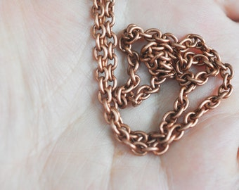 18 gauge Brass, Simple Cable Link Chain, X1FT,  Rose Ox, Jewelry Supplies, Jewelry Making, Findings
