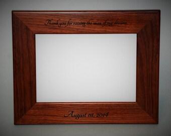 4x6 Laser Engraved Walnut Picture Frame, Custom picture frame, personalized picture frame 4x6
