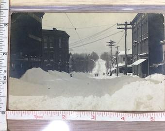 Vintage Post Card Photo Snow Scene Pleasantville Pa Used
