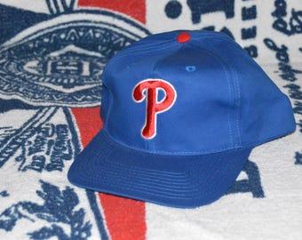 4a5d16232fa01 Vintage 1990 s Philadelphia Phillies Snapback!!! MLB National League Hat!