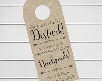 Wedding Door Hanger, Custom Hotel Door Hangers, Destination Wedding Welcome Bag  (DH-006-KR)
