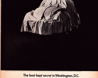 1968 VW Beetle Volkswagen Best Secret Washington DC-Original 13.5 * 10.5 Magazine Ad