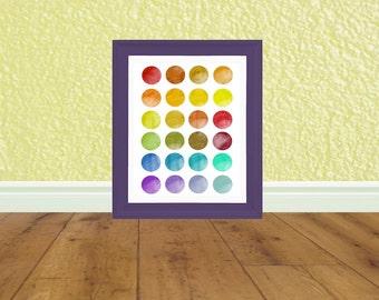 Rainbow Kids Art - Kids Bedroom - Art Print - Digital File - Instant Download - Printable Art