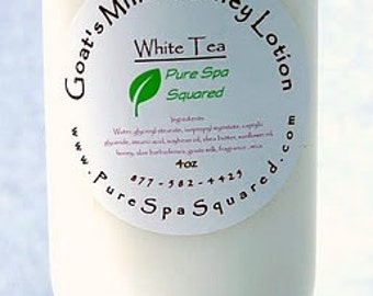 Goat Milk and Honey Lotion with Shea Butter - White Tea 4 oz.