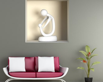 Wall decals 3D illusion sculpture 1 A489 - Stickers 3D illusion sculpture 1 A489