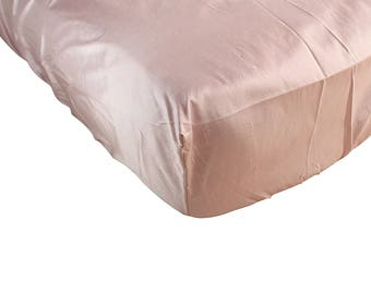 Bella 100% Silk Natural Hypoallergenic Pink Fitted Crib Sheet