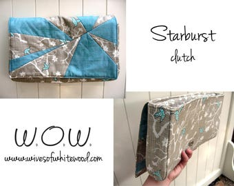 Starburst Clutch PDF Sewing Pattern